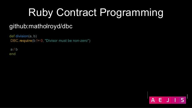 Contracts in Ruby - Vladyslav Hesal