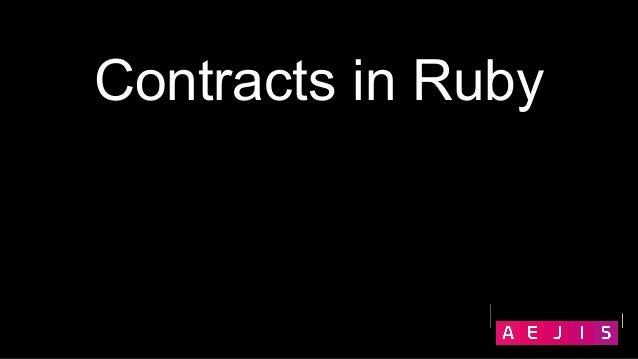Contracts in Ruby - Vladyslav Hesal Slide 2