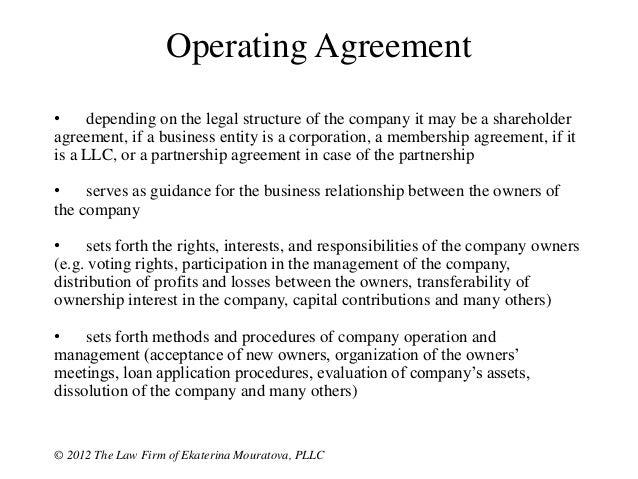 Operating Agreementu2022 ...