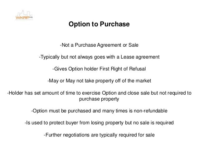 Contracts presentation option to purchase platinumwayz