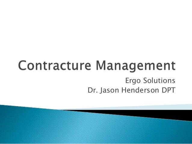 Ergo Solutions Dr. Jason Henderson DPT