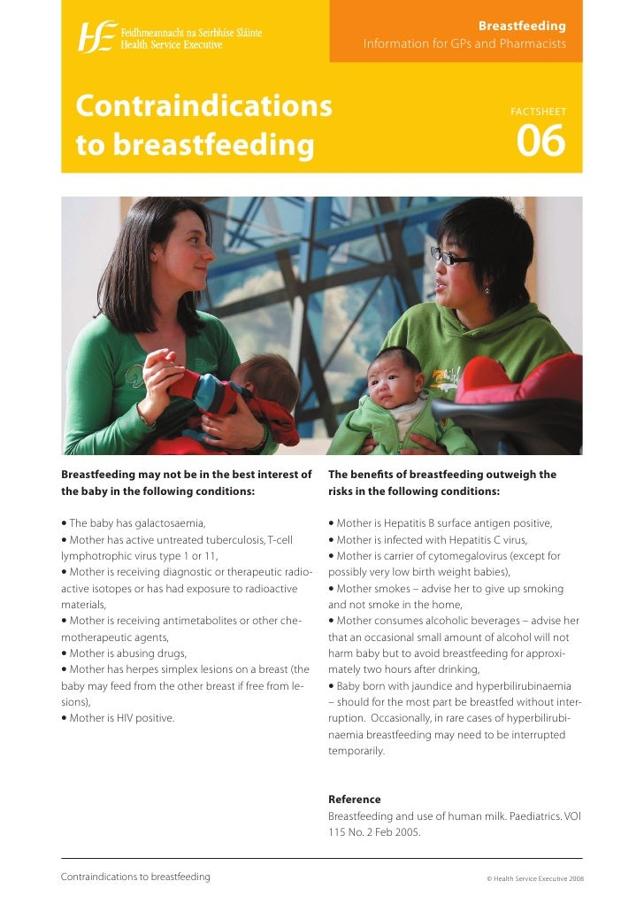 Breastfeeding                                                                 Information for GPs and Pharmacists       Co...