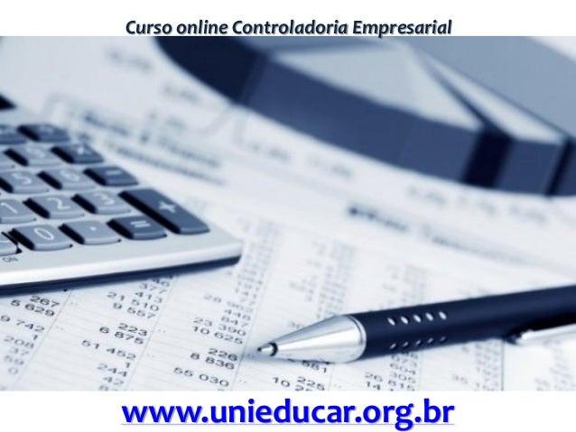 Curso online Controladoria Empresarial www.unieducar.org.br