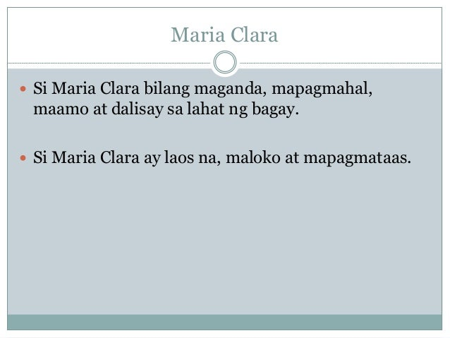 maria clara essay Black holes term papers  search results  in four pages this research paper discusses the political and story symbolic importance of maria clara in an .