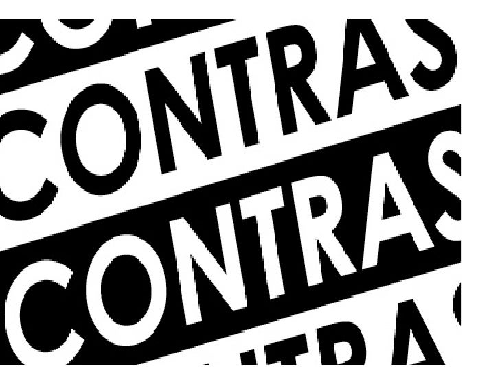 Contrast is...