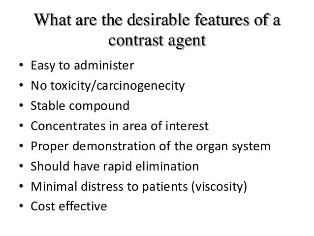 Contrast Agents Ppt: types of contrast