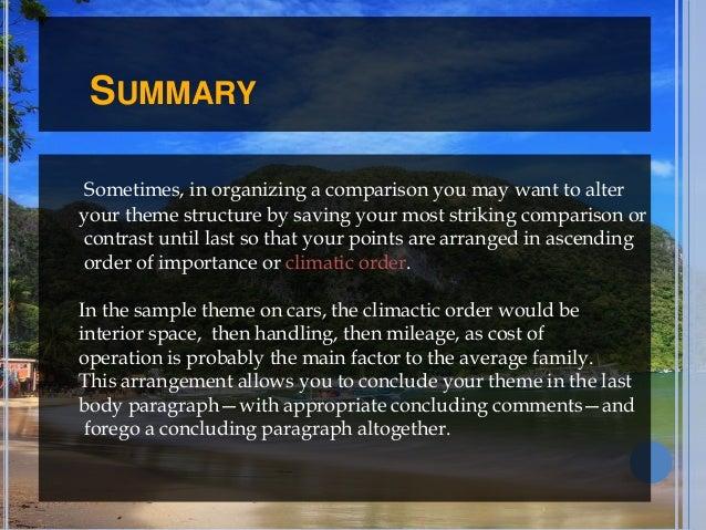 sample paragraph of comparison