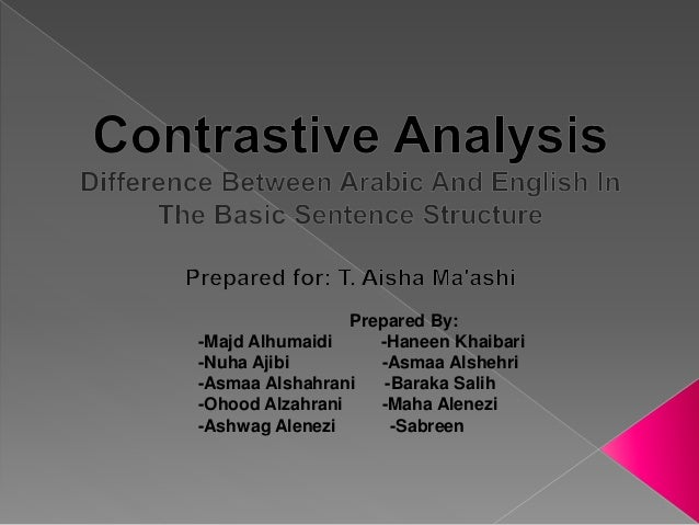 difference between english and arabic basic sentence structure