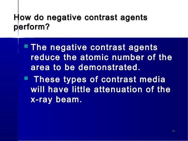 negative contrast agents