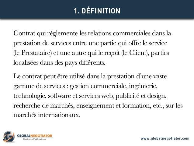 Contrat International De Services Modele De Contrat Et Exemple