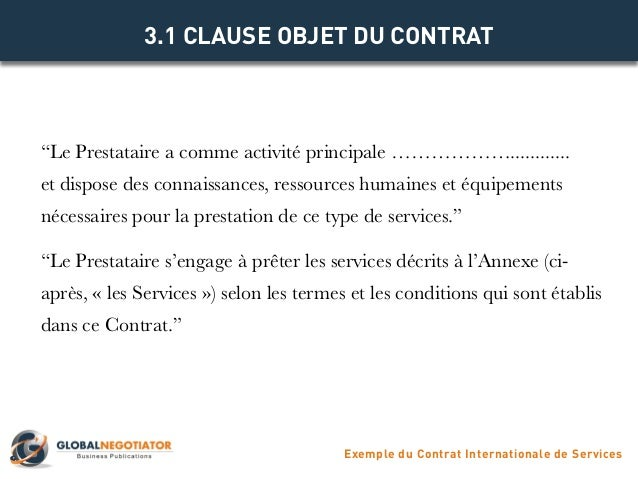 CONTRAT INTERNATIONAL DE SERVICES - Modèle de Contrat et ...
