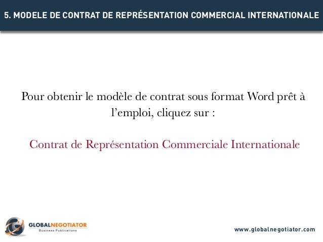 Contrat Representation Commercial Internationale Modele De Contrat