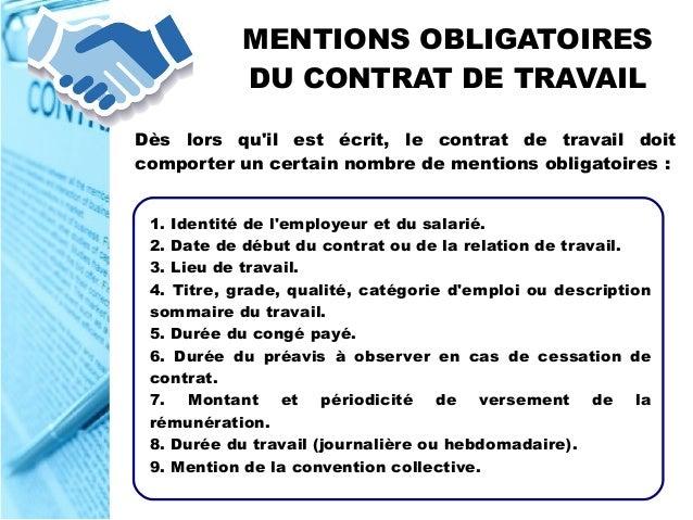 info contrat de travail Le Contrat de Travail info contrat de travail