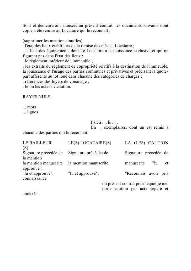 Contrat de bail - Lettre de restitution de caution par le bailleur ...