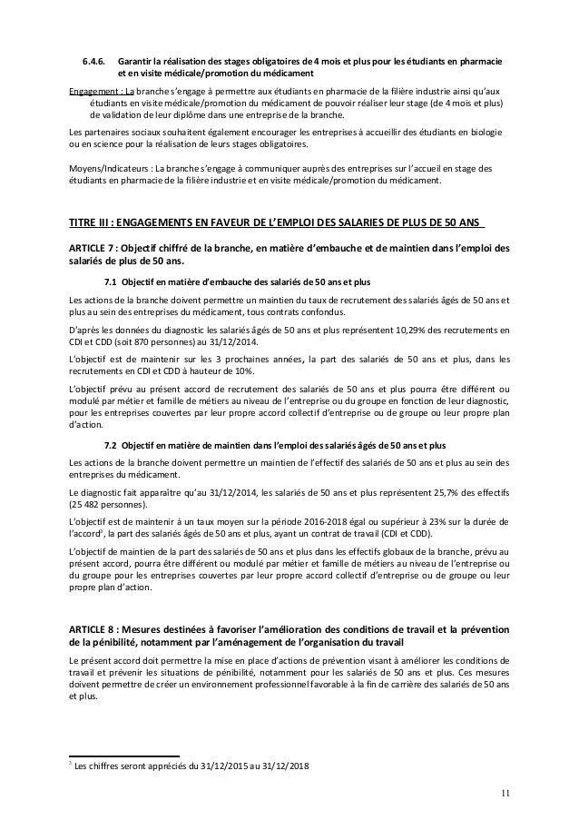 Idcc 176 Contrat De Generation 2016 2019
