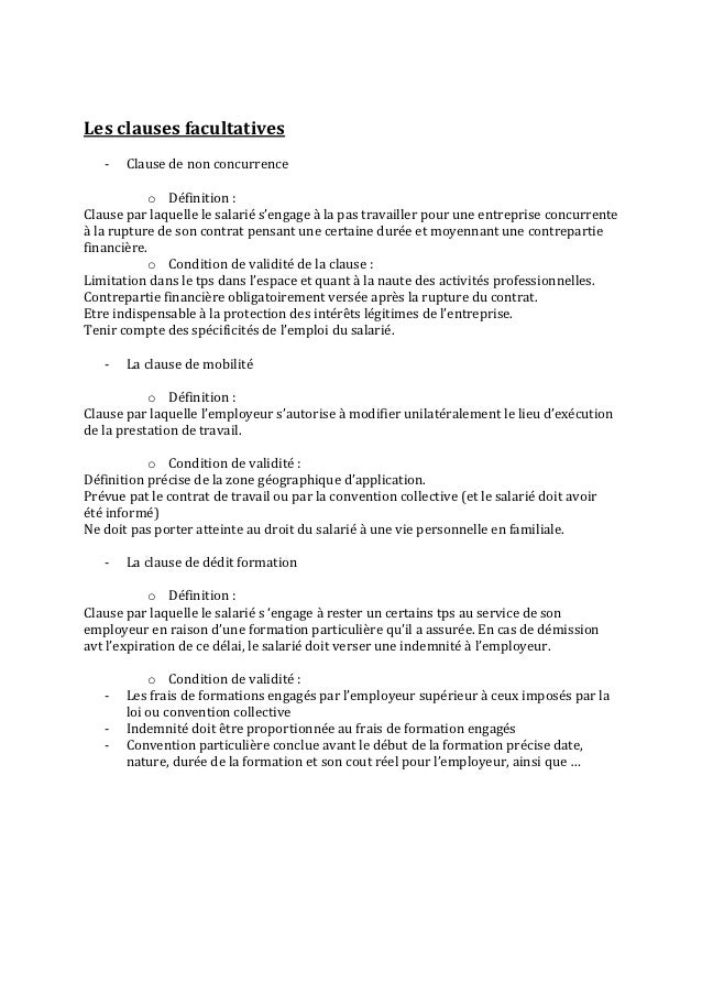 exemple de clause de mobilité dans un contrat de travail Contrat de travail exemple de clause de mobilité dans un contrat de travail