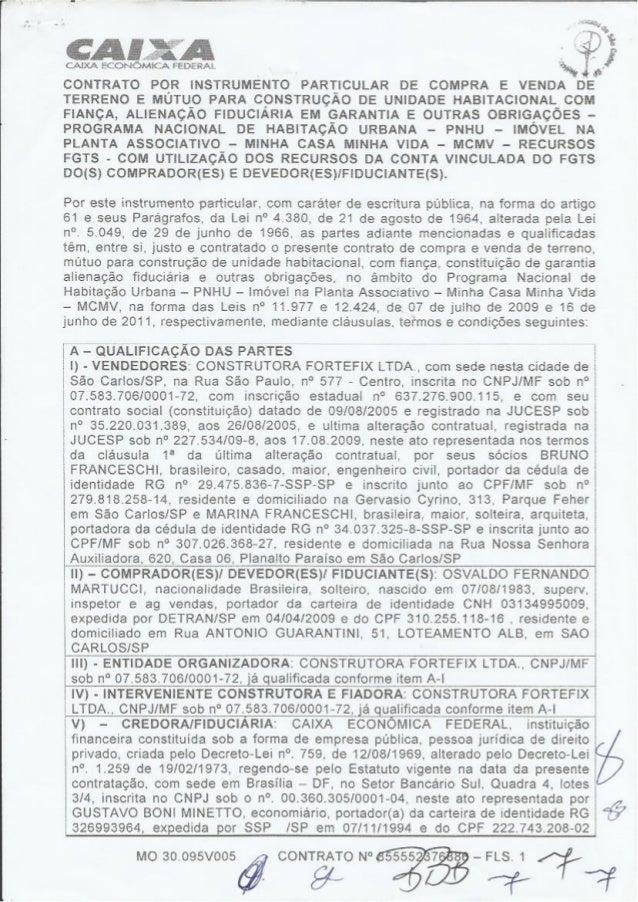 Estudo de caso - Contrato CEF
