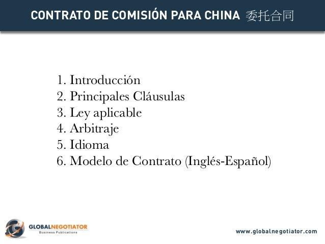 Contrato Comisión para China en Chino 委托合同 Slide 2