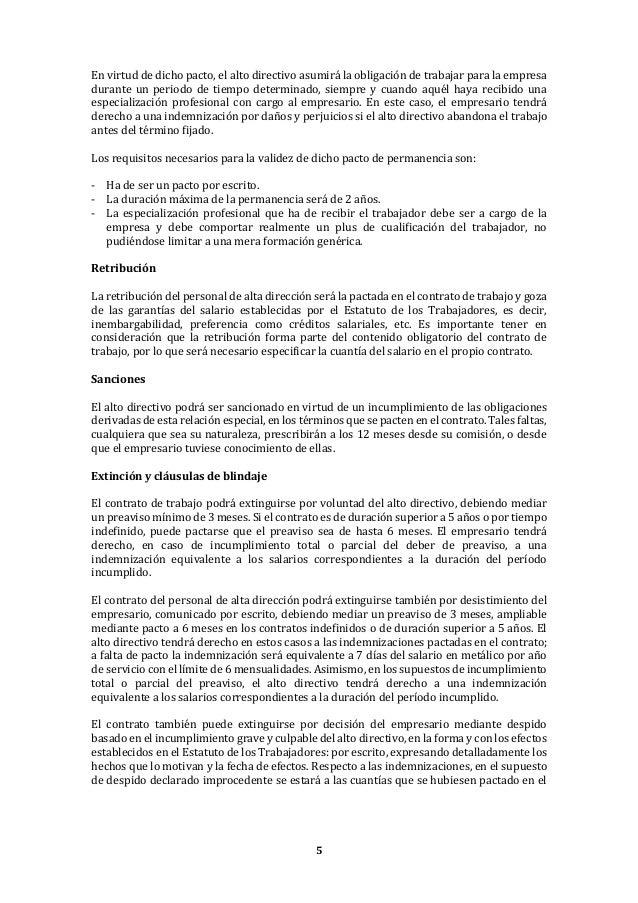 Contrato De Trabajo De Alta Direccion