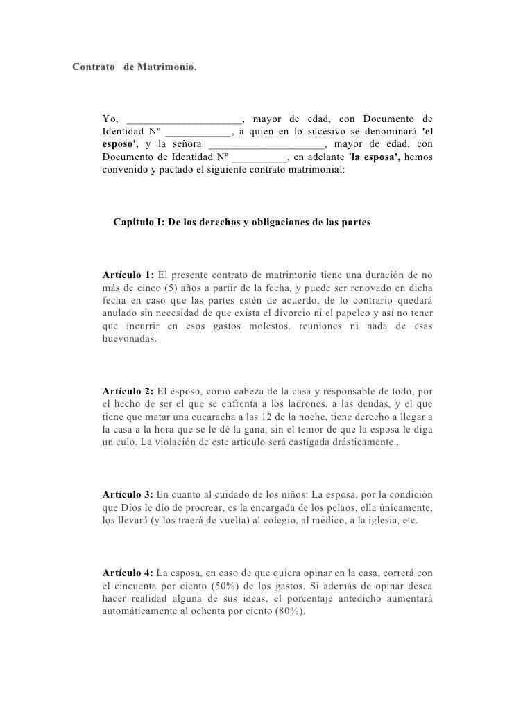 Contrato capitulaciones matrimoniales for Contrato documento