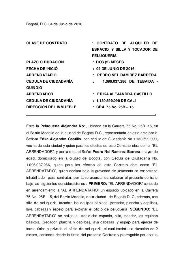 Contrato de alquiler 2016 argentina anexo al contrato de arrendamiento inventario de bienes - Contrato de alquiler de garaje ...