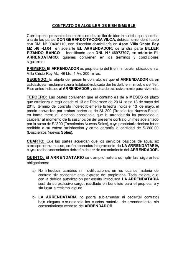 Contrato De Alquiler De Bien Inmuble26