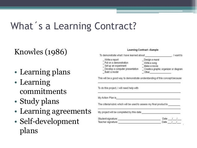Contrato De Aprendizaje  Learning Contract