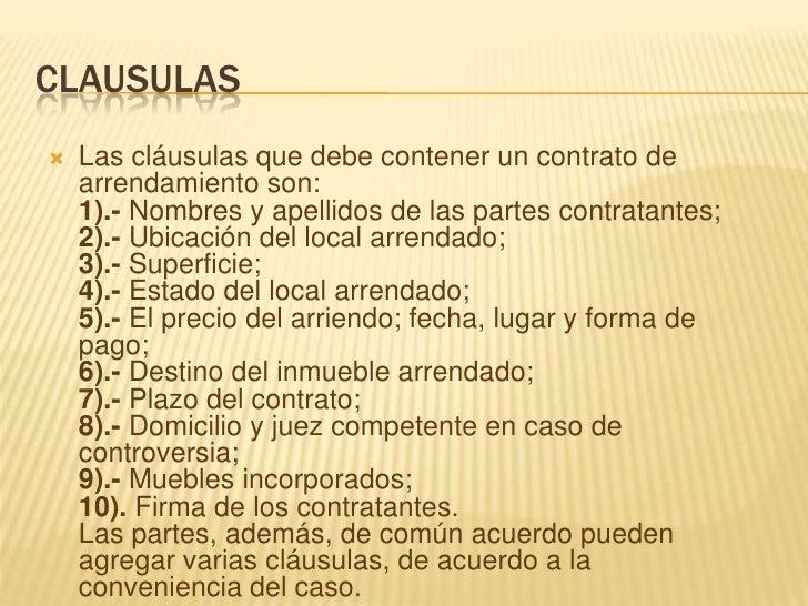 Contrato de arrendamiento for Clausula suelo firma acuerdo privado