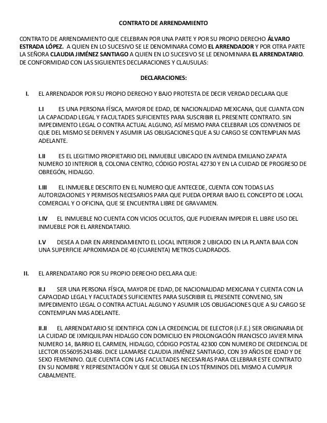 Contrato de arrendamiento for Contrato de arrendamiento de oficina