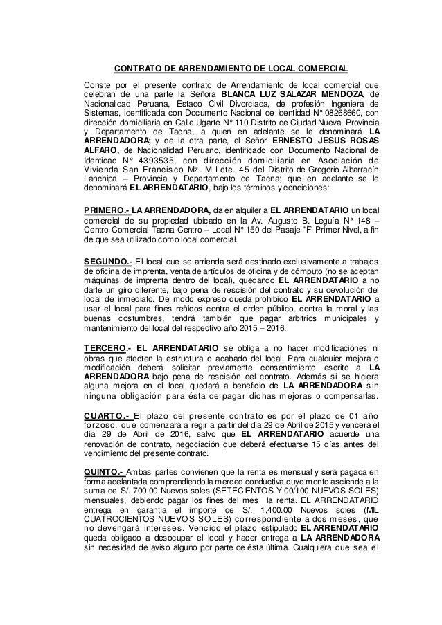 Modelo De Contrato De Arrendamiento De Vivienda 2016 2013