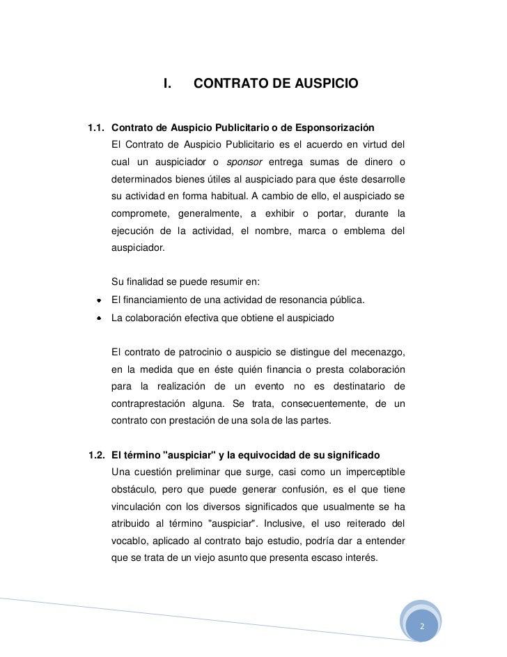 Contrato De Auspicio