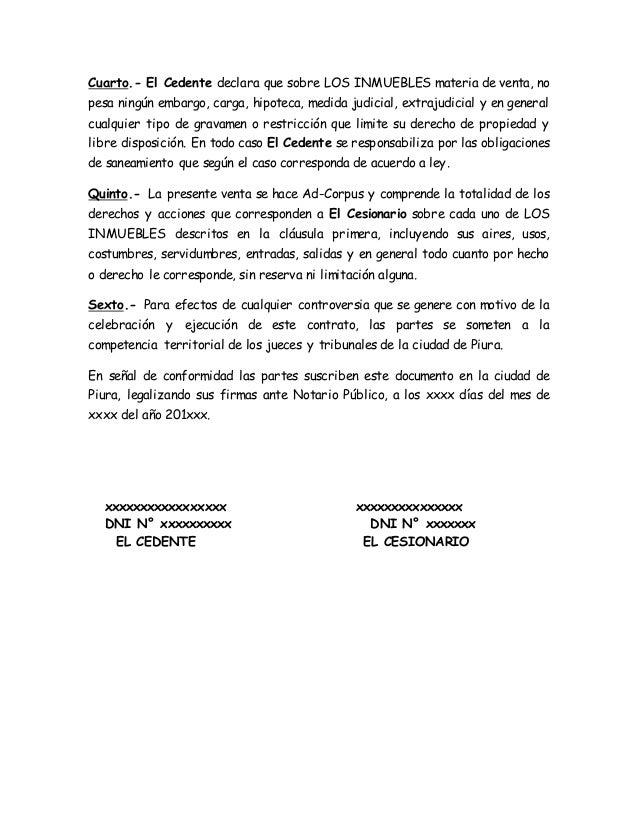 Contrato de cesi n de derechos y transferencia de propiedad for Modelo acuerdo extrajudicial clausula suelo