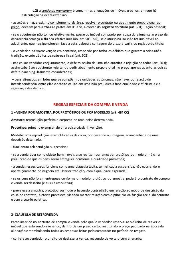 Contrato De Compra E Venda Direito Civil