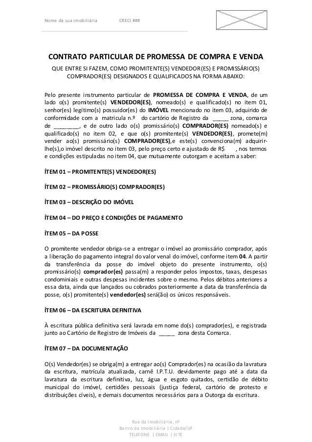 Contrato Promessa De Compra E Venda Artigo November 2019