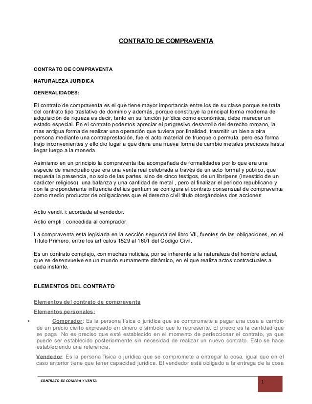 Contrato de compraventa for Contrato documento