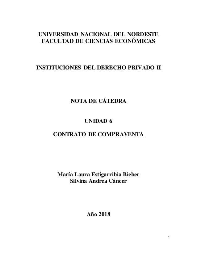 1 UNIVERSIDAD NACIONAL DEL NORDESTE FACULTAD DE CIENCIAS ECONÓMICAS INSTITUCIONES DEL DERECHO PRIVADO II NOTA DE CÁTEDRA U...