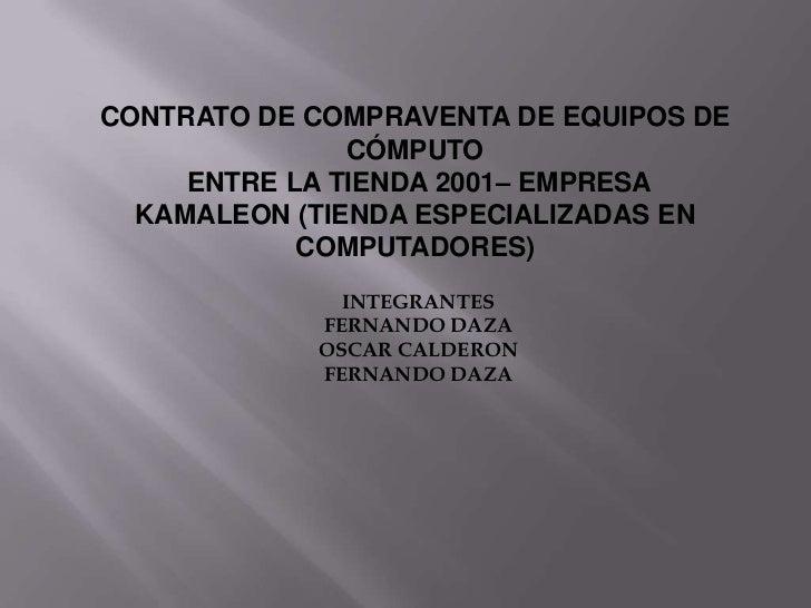 Contrato de compraventa de equipos de cómputo