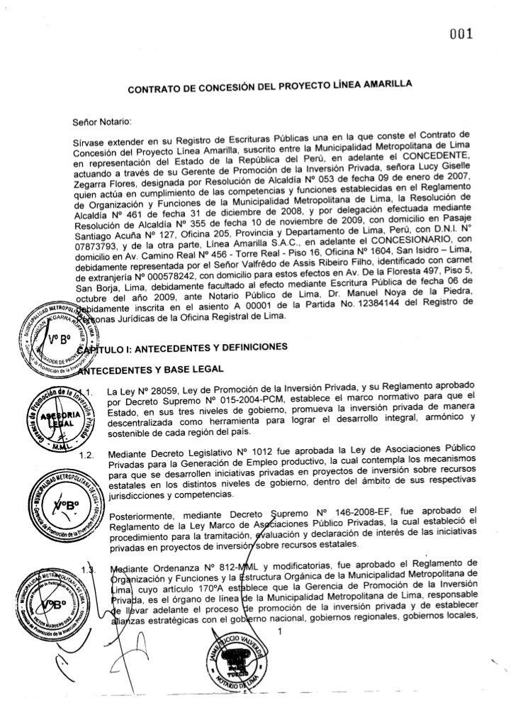 Sirvase extender en su Registro de Escrituras Publicas una en la que conste el Contrato de                               C...