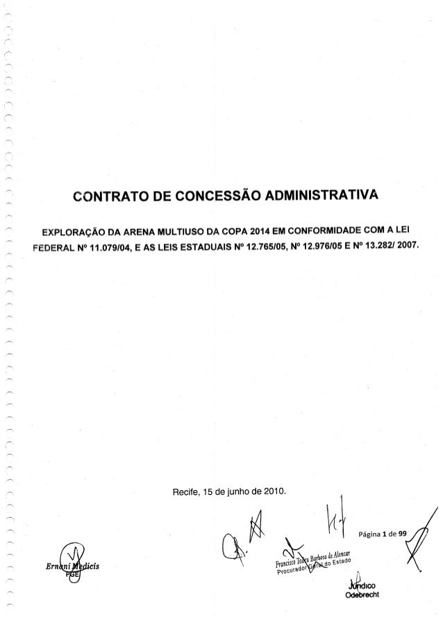 CONTRATO DE CONCESSÃO ADMIN| STRATIVA  EXPLORAÇÃO DA ARENA MULTIUSO DA COPA 2014 EM CONFORMIDADE COM A LEI FEDERAL N° 11.0...