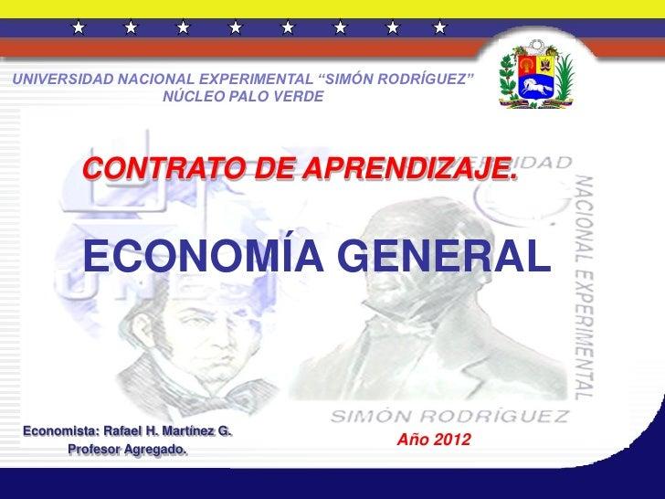 "UNIVERSIDAD NACIONAL EXPERIMENTAL ""SIMÓN RODRÍGUEZ""                 NÚCLEO PALO VERDE          CONTRATO DE APRENDIZAJE.   ..."