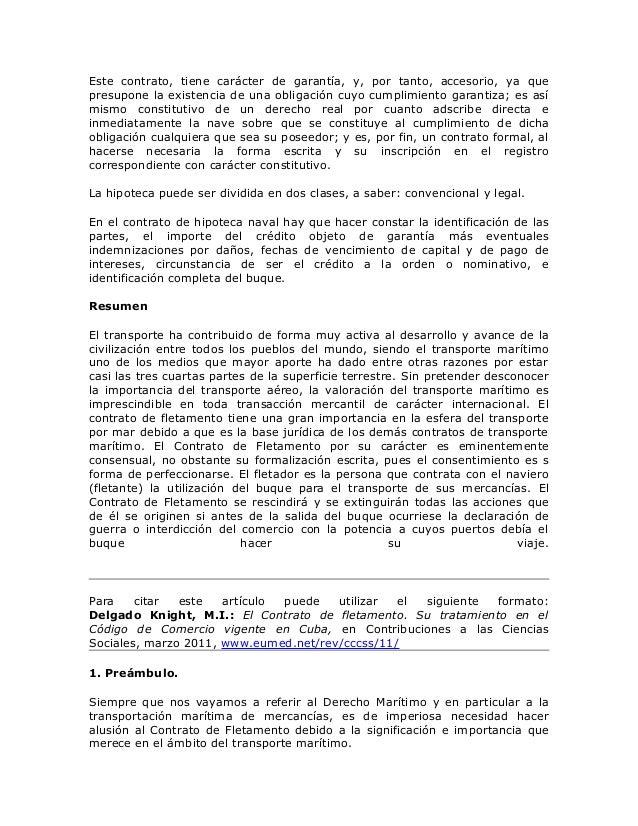 Contrato de fletamento for Contrato de hipoteca