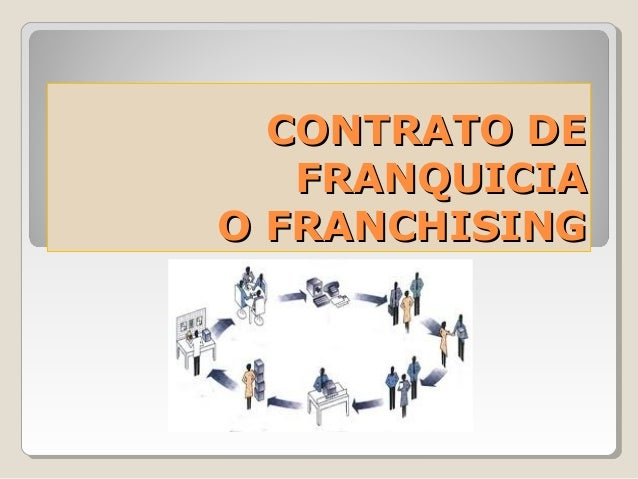 CONTRATO DECONTRATO DE FRANQUICIAFRANQUICIA O FRANCHISINGO FRANCHISING