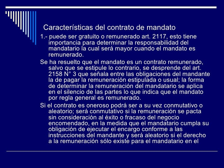 Contrato de Mandato Slide 3