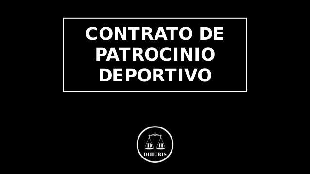 CONTRATO DE PATROCINIO DEPORTIVO