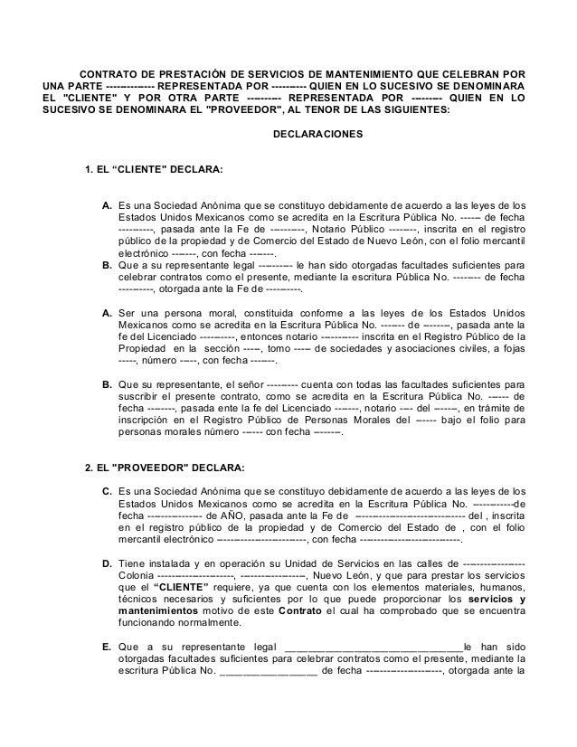 Contrato De Prestaci N De Servicios 1