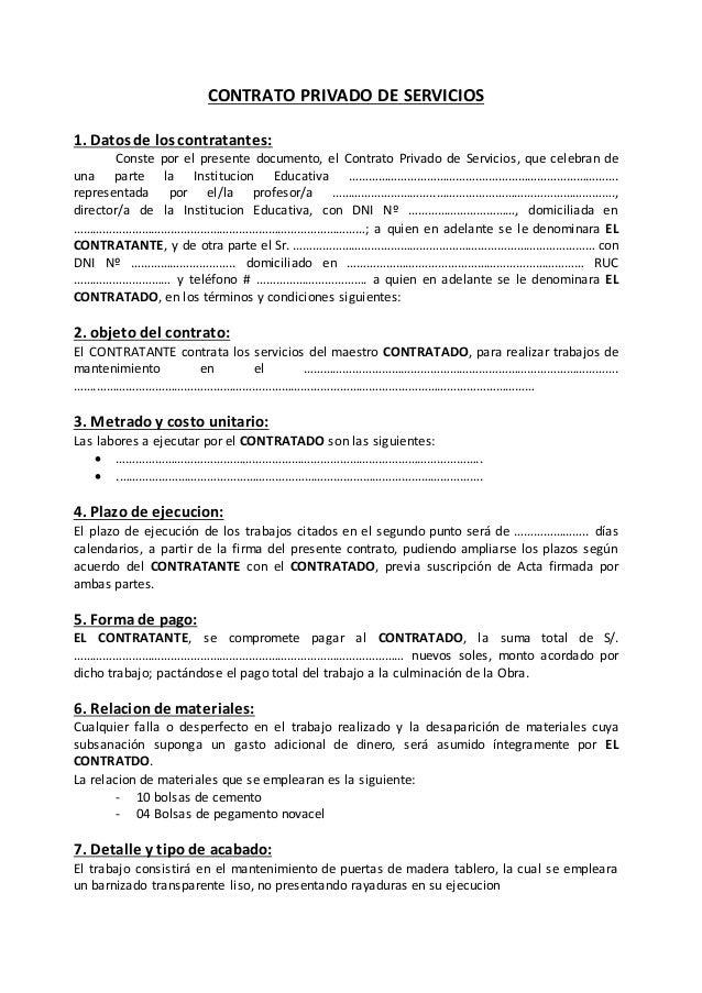Contrato de servicios for Contrato documento