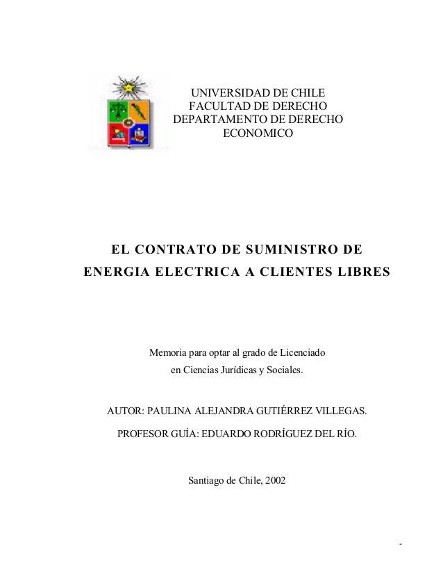 Contrato de suministro de energia electrica a clientes libres