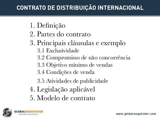 1 MODELO DE CONTRATO DE DISTRIBUIÇÃO INTERNACIONAL Descarregue exemplo de CONTRATO DE DISTRIBUIÇÃO INTERNATIONAL em format...
