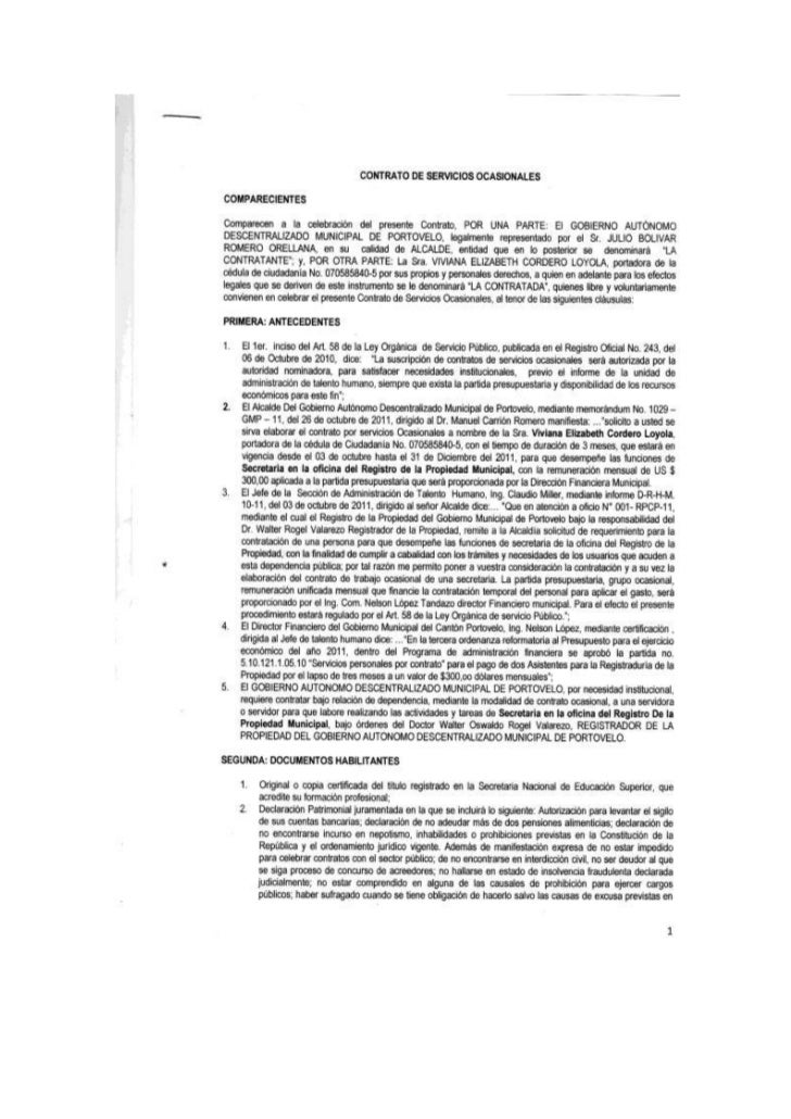 Este es el contrato que se le pretende hacer firmar, contrato eventual sin garantía deestabilidad laboral,