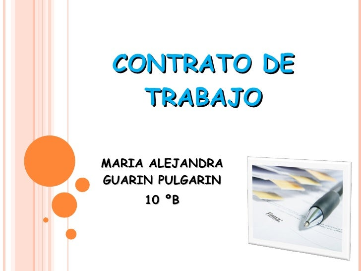 CONTRATO DE TRABAJO MARIA ALEJANDRA GUARIN PULGARIN 10 ºB